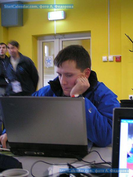 Андрей Арих за работой