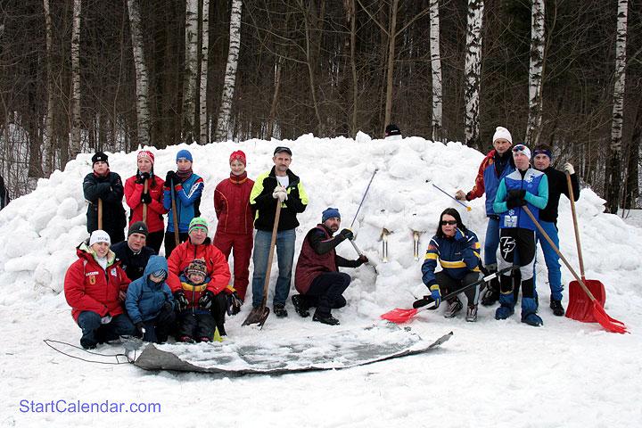 Заготовка снега